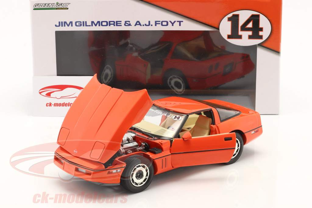 Chevrolet Corvette C4 Byggeår 1984 hugger orange 1:18 Greenlight