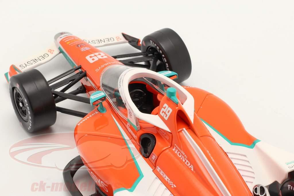 James Hinchcliffe Honda #29 IndyCar Series 2021 1:18 Greenlight