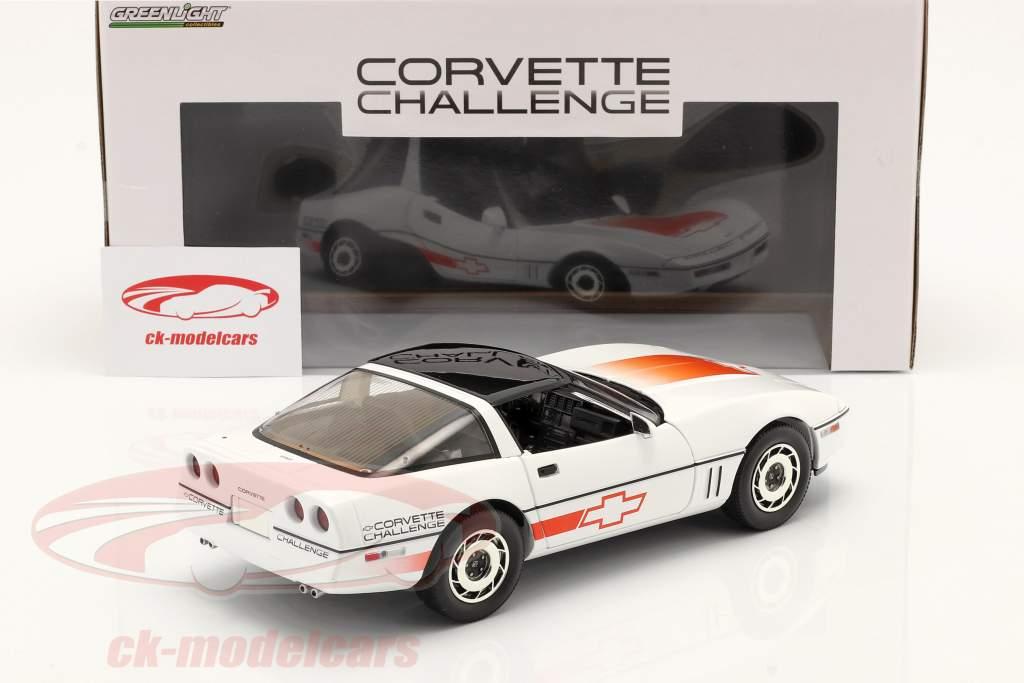Chevrolet Corvette C4 year 1988 white / orange 1:18 Greenlight