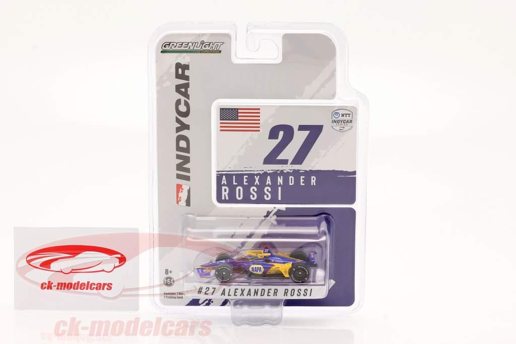 Alexander Rossi Honda #27 IndyCar Series 2021 1:64 Greenlight