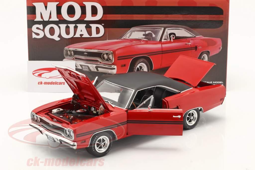 Plymouth GTX 1970 séries télévisées The Mod Squad (1968-73) rouge / le noir 1:18 GMP