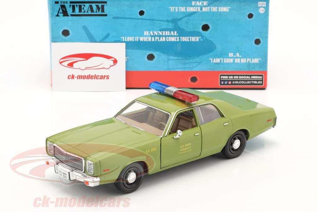 Plymouth Fury 1977 séries télévisées Das A-Team (1983-87) armée vert 1:24 Greenlight