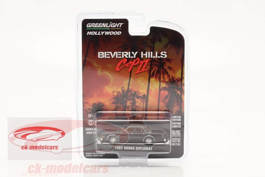 Dodge Diplomat 1982 Film Beverly Hills Cop II (1987) dunkelbraun 1:64 Greenlight