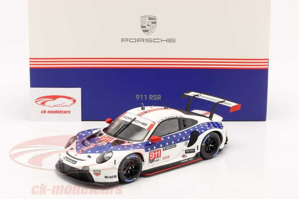 Porsche 911 RSR #911 vinder GTLM klasse 12h Sebring IMSA 2020 1:18 Spark