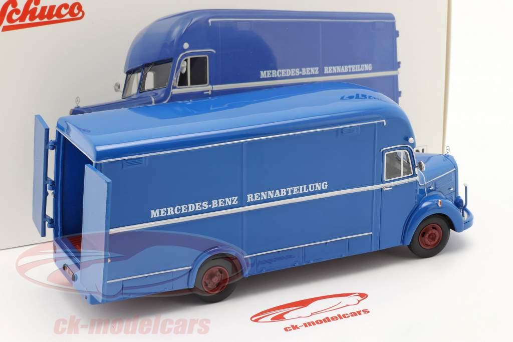 Mercedes-Benz O35000 racing department blue 1:43 Schuco