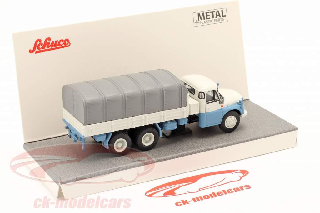 Tatra T148 Bunk / Plans grey / white / light blue 1:87 Schuco