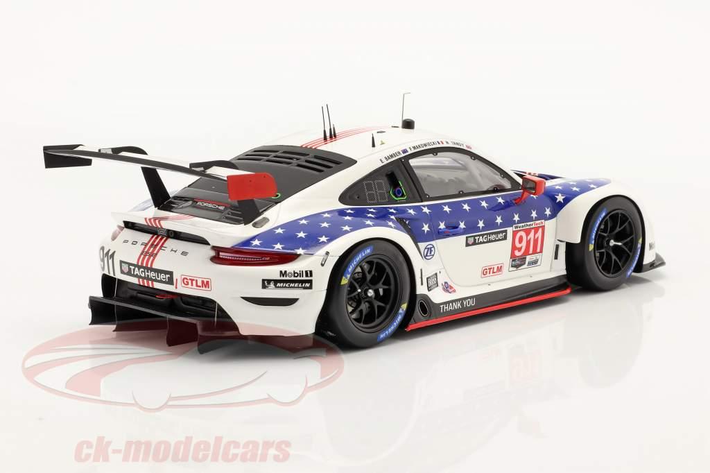 Porsche 911 RSR #911 gagnant Classe GTLM 12h Sebring IMSA 2020 1:18 Spark