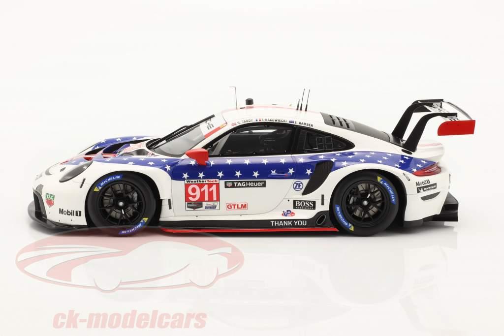 Porsche 911 RSR #911 Sieger GTLM-Klasse 12h Sebring IMSA 2020 1:18 Spark