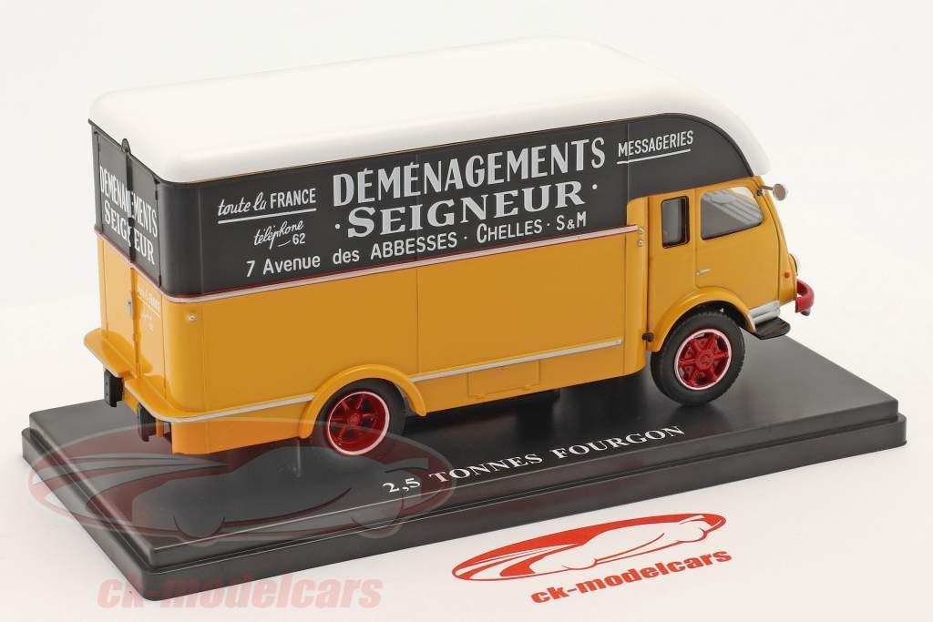 Renault 2,5t Fourgon Demenagements Seigneurs jaune / le noir / blanche 1:43 Hachette