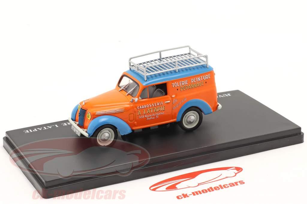 Renault Juvaquatre Advertising Van Latapie orange / blue 1:43 Hachette