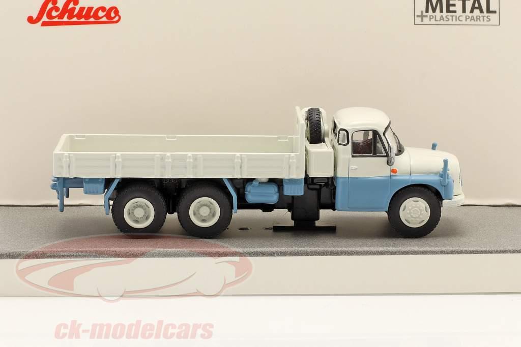 Tatra T148 Pritsche / Plane grau / weiß / hellblau 1:87 Schuco