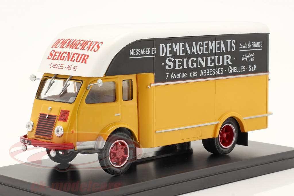Renault 2,5t Van Demenagements Seigneurs gelb / schwarz / weiß 1:43 Hachette