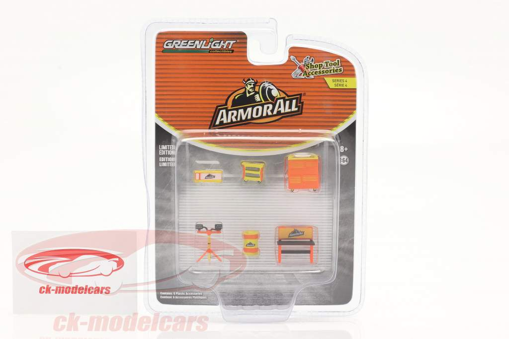 ArmorAll Shop Tool Accessories Set Series 4 1:64 Greenlight
