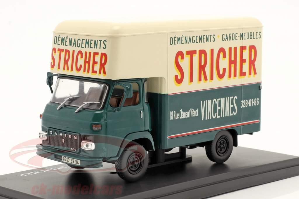 Saviem SG2 MB35 Van Stricher dunkelgrün / creme weiß 1:43 Hachette