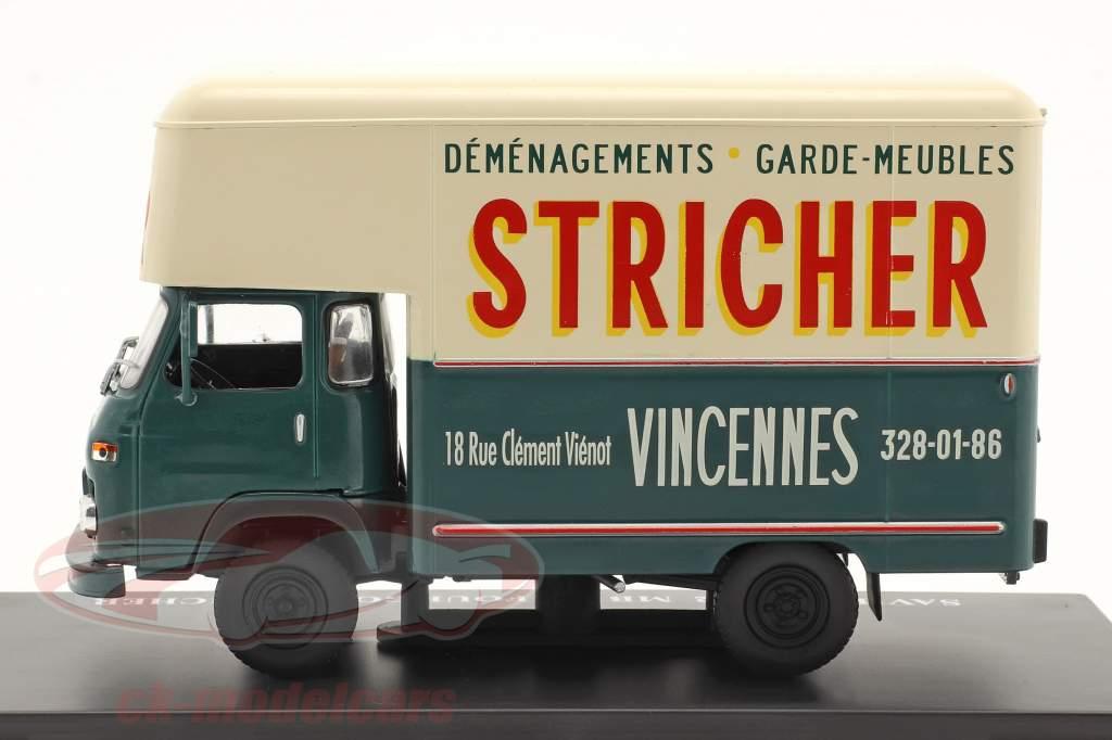 Saviem SG2 MB35 camioneta Stricher verde oscuro / crema blanco 1:43 Hachette