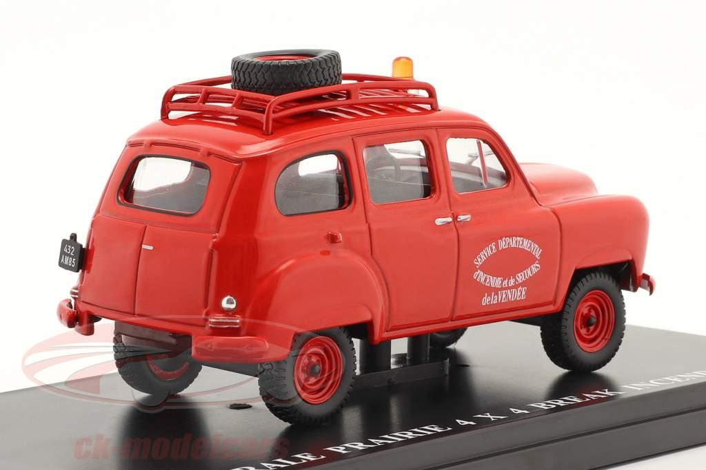 Renault Colorale Prairie 4x4 Break Servicio de ambulancia SDIS rojo 1:43 Hachette