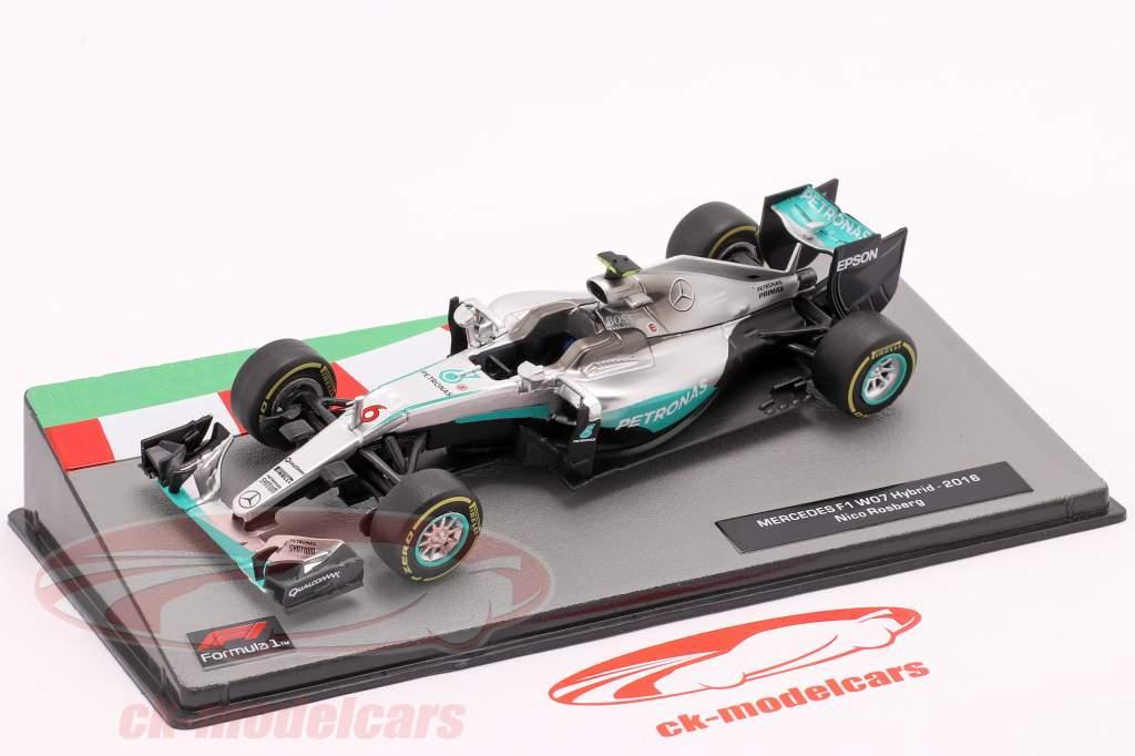 Nico Rosberg Mercedes F1 W07 Hybrid #6 Formel 1 Weltmeister 2016 1:43 Altaya