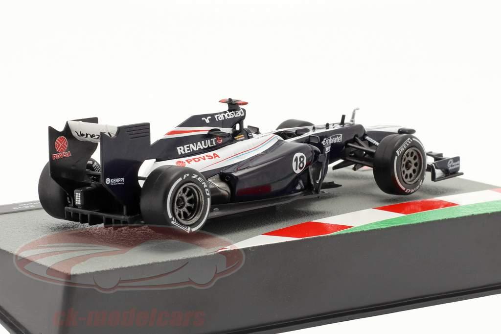 Pastor Maldonado Williams FW34 #18 fórmula 1 2012 1:43 Altaya