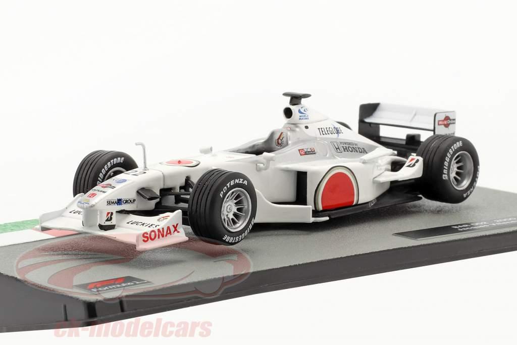 Jacques Villeneuve BAR 002 #22 formel 1 2000 1:43 Altaya