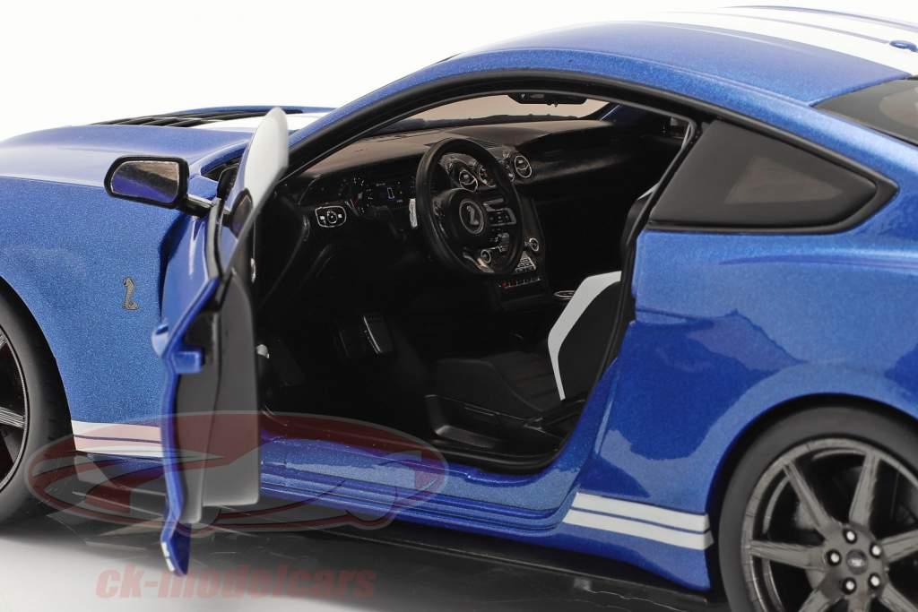 Ford Mustang Shelby GT500 Fast Track Año de construcción 2020 azul metálico 1:18 Solido