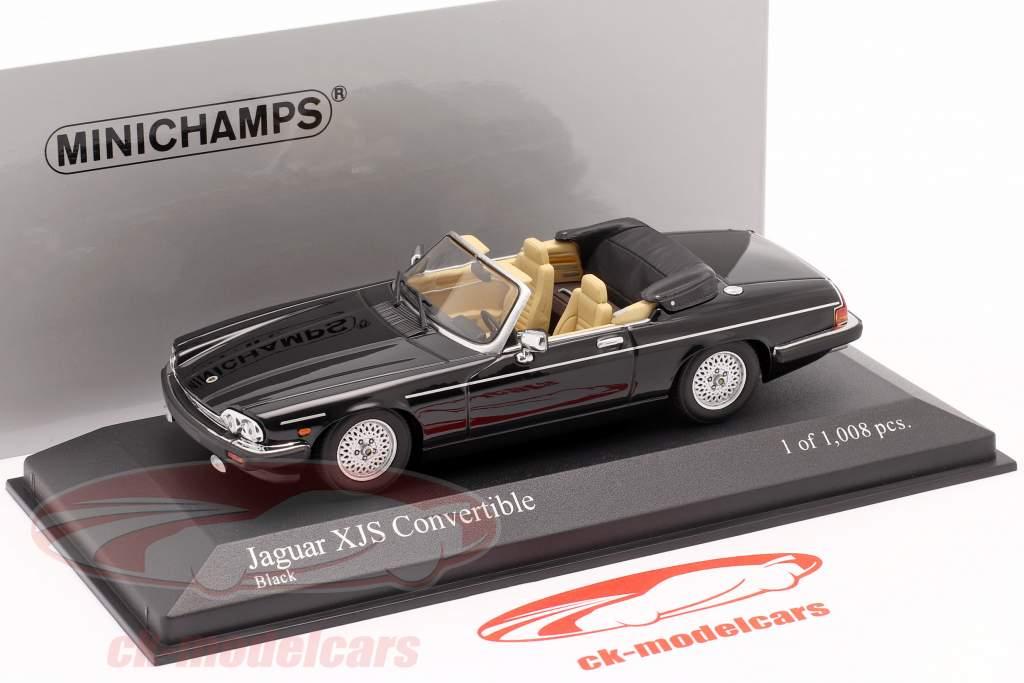Jaguar XJS Convertible Année de construction 1988 le noir 1:43 Minichamps