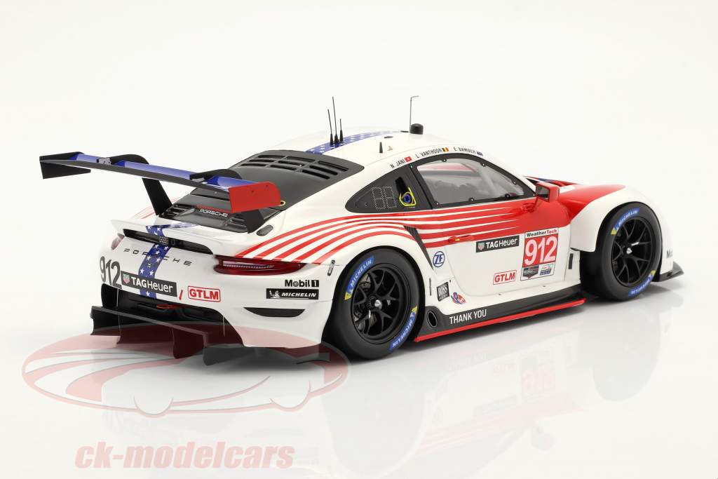 Porsche 911 RSR #912 2. GTLM klasse 12h Sebring IMSA 2020 1:18 Spark