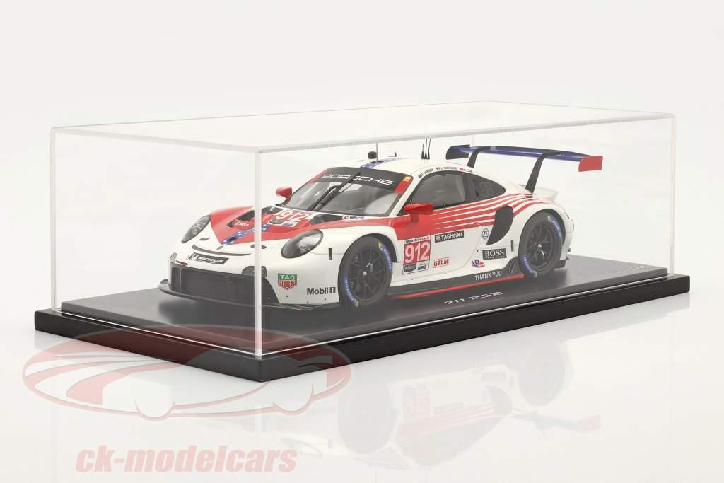 Porsche 911 RSR #912 2nd GTLM-Klasse 12h Sebring IMSA 2020 1:18 Spark