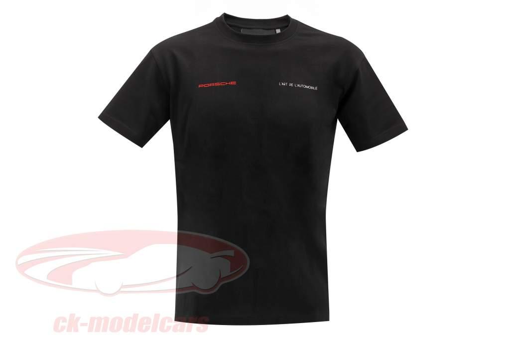 Porsche T-shirt L'ART DE L'AUTOMOBILE le noir