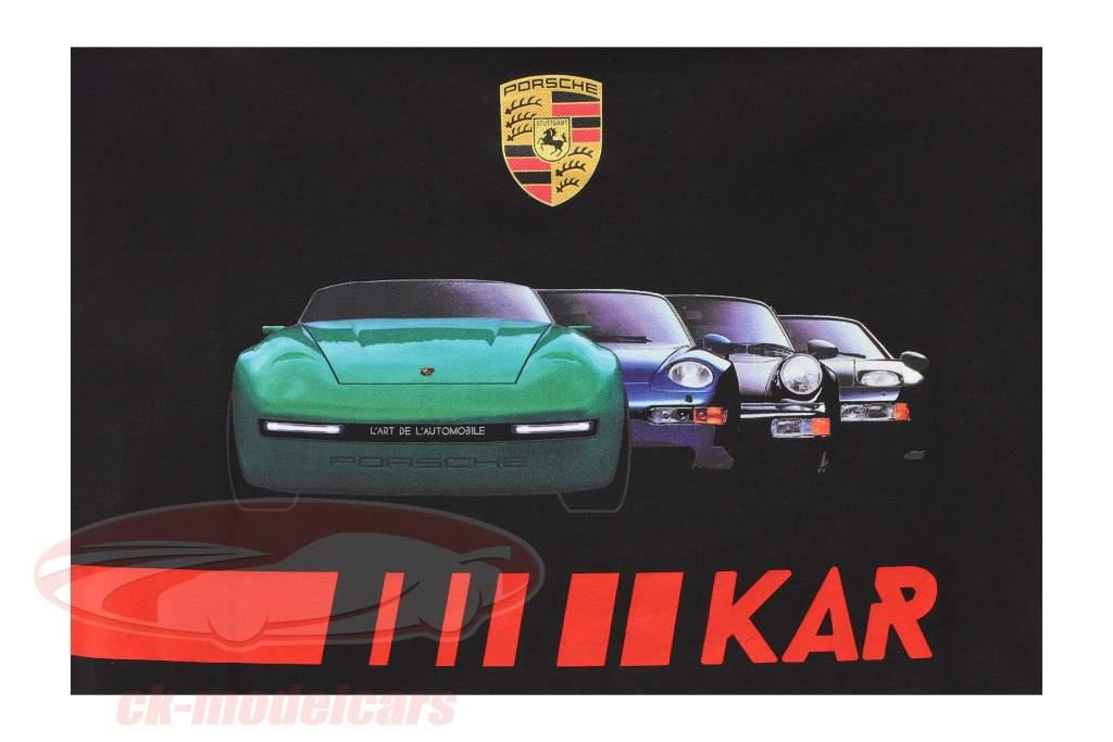 Porsche Camiseta de manga corta L'ART DE L'AUTOMOBILE negro