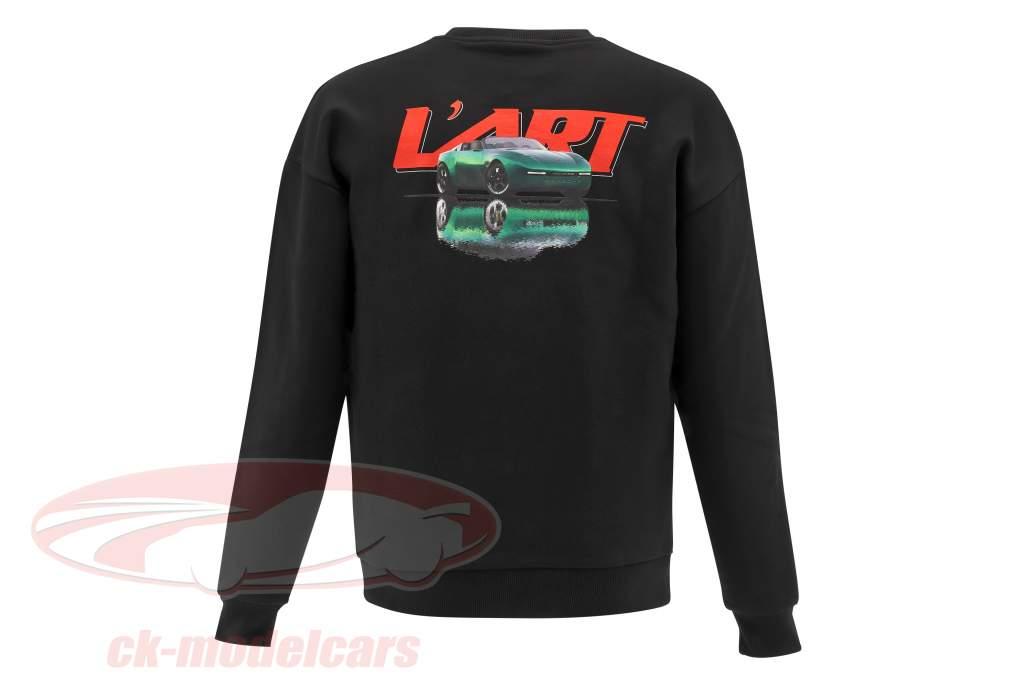 Porsche Mænd sweatshirt L'ART DE L'AUTOMOBILE sort