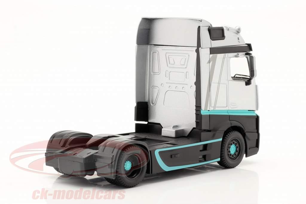 Mercedes-Benz Actros Gigaspace 4x2 Sattelzugmaschine silber / schwarz 1:43 Bburago