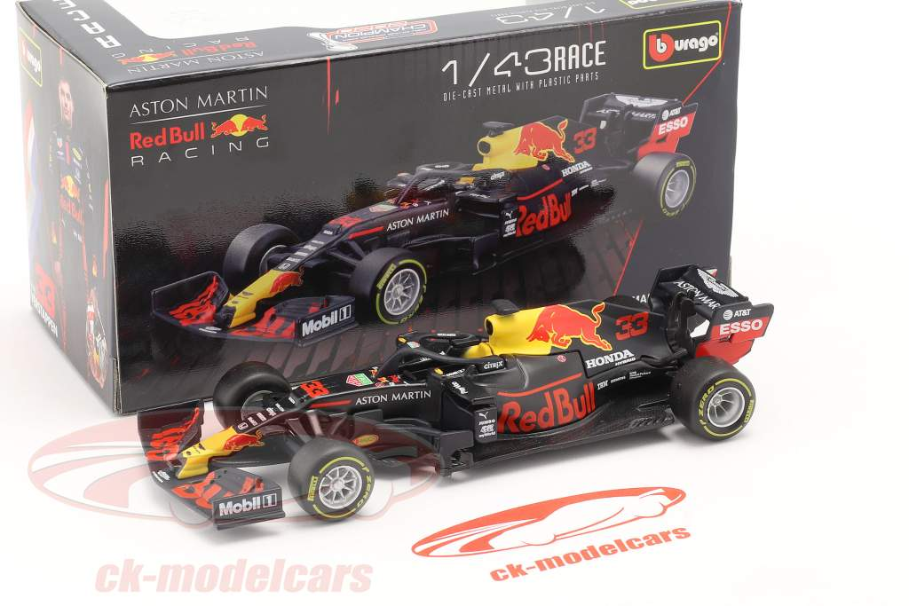 Max Verstappen Red Bull RB16 #33 ganador Abu Dhabi GP fórmula 1 2020 1:43 Bburago