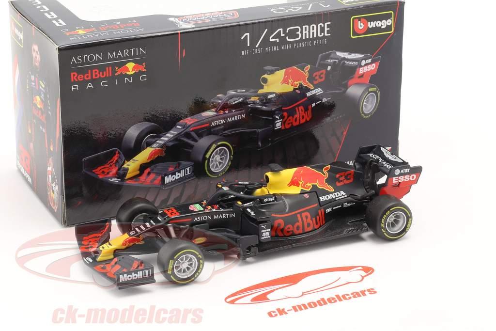 Max Verstappen Red Bull RB16 #33 Sieger Abu Dhabi GP Formel 1 2020 1:43 Bburago