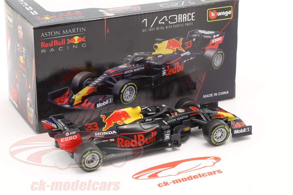 Max Verstappen Red Bull RB16 #33 gagnant Abu Dhabi GP formule 1 2020 1:43 Bburago