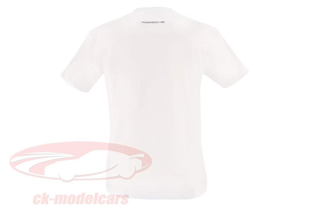 Porsche T-shirt L'ART DE L'AUTOMOBILE hvid