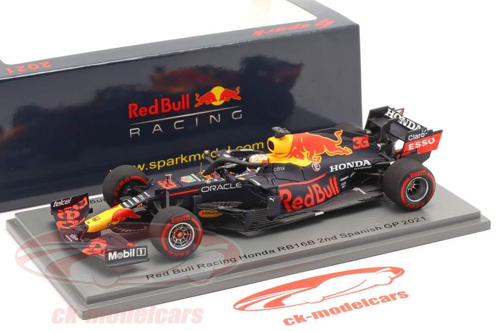 Max Verstappen Red Bull RB16B #33 2do Español GP fórmula 1 2021 1:43 Spark