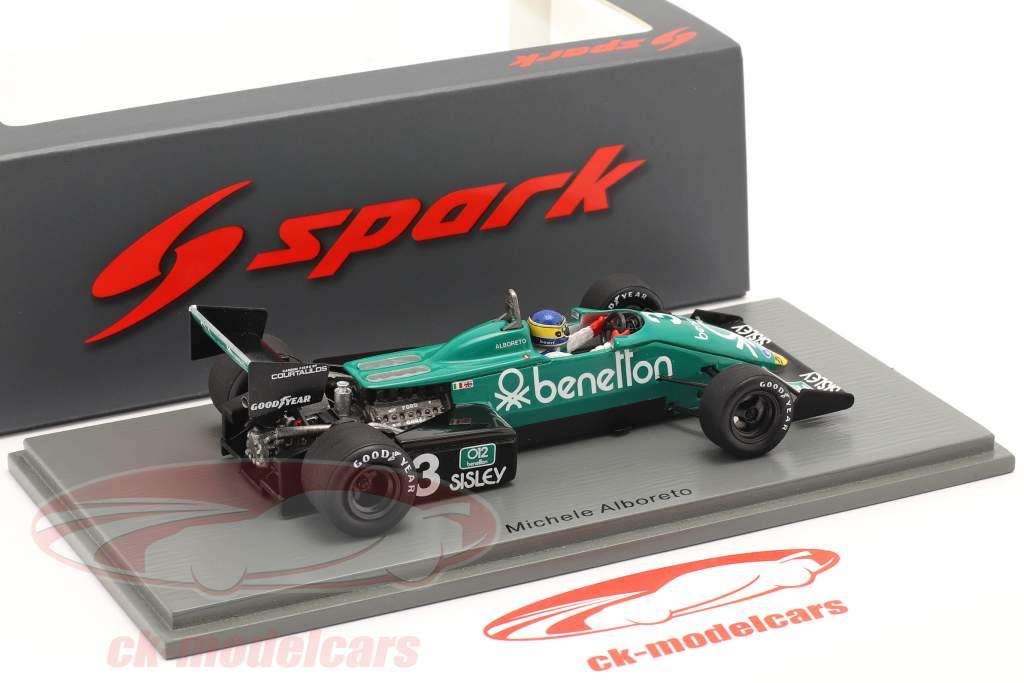 Michele Alboreto Tyrrell 011B #3 ganador Estados Unidos este GP fórmula 1 1983 1:43 Spark