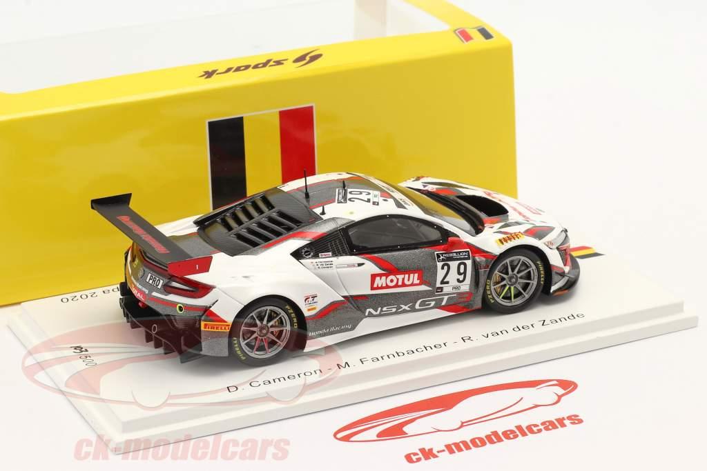 Honda Acura NSX GT3 #29 9th 24h Spa 2020 Honda Racing 1:43 Spark