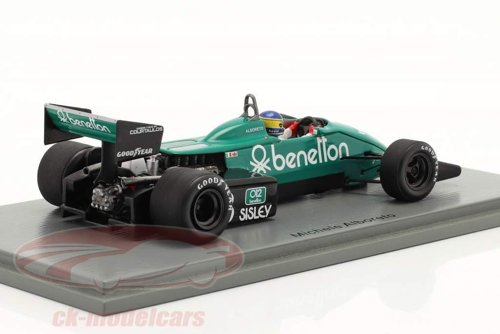 Michele Alboreto Tyrrell 011B #3 gagnant États Unis est GP formule 1 1983 1:43 Spark