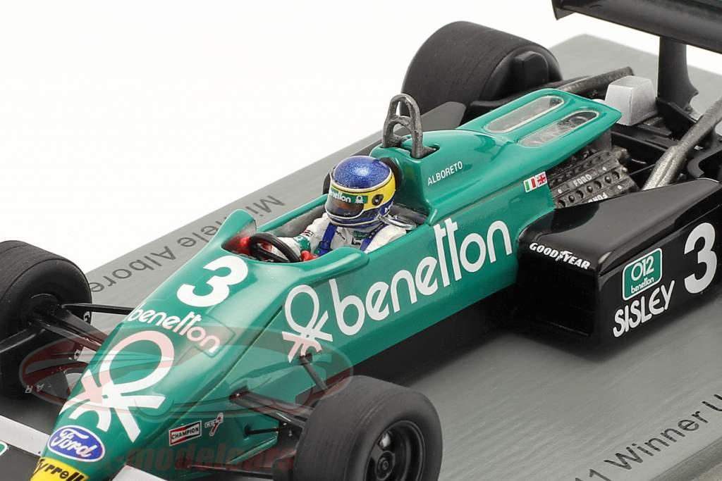 Michele Alboreto Tyrrell 011B #3 Winner United States East GP formula 1 1983 1:43 Spark
