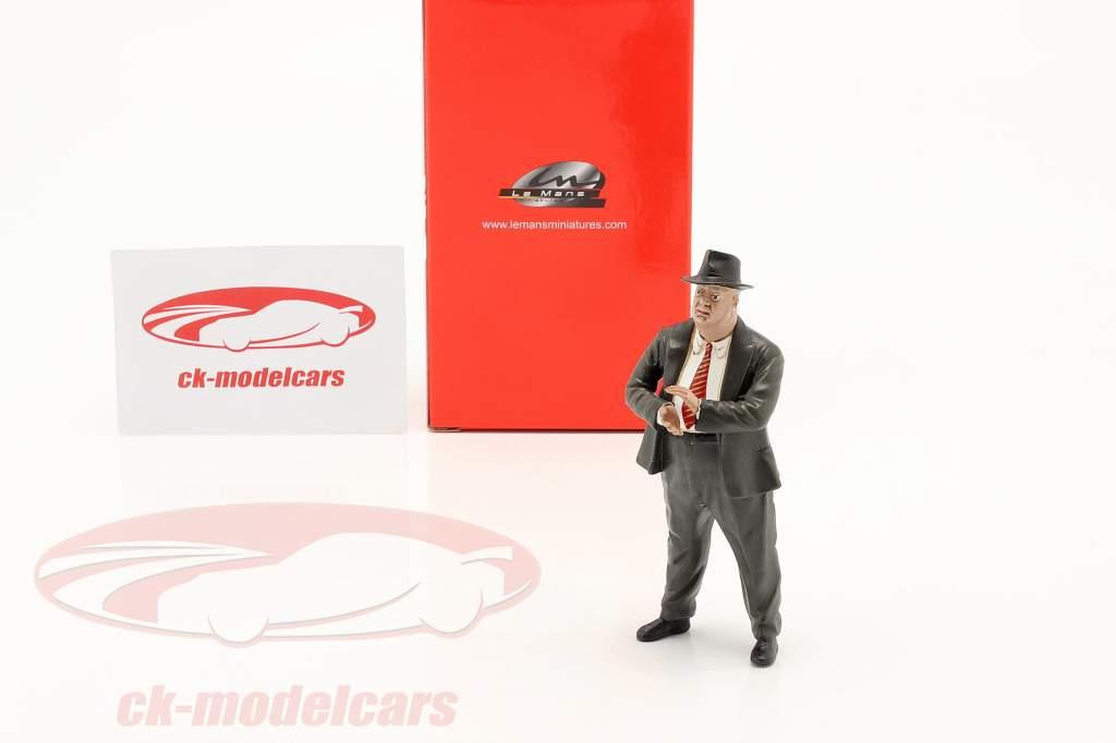 Alfred Neubauer Director de carrera Mercedes-Benz Años 50 años figura 1:18 LeMansMiniatures