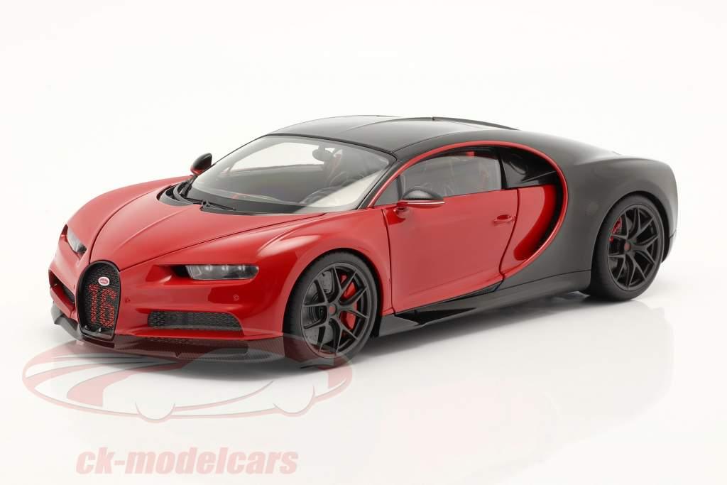 Bugatti Chiron Sport Baujahr 2019 italienrot / carbon 1:18 AUTOart