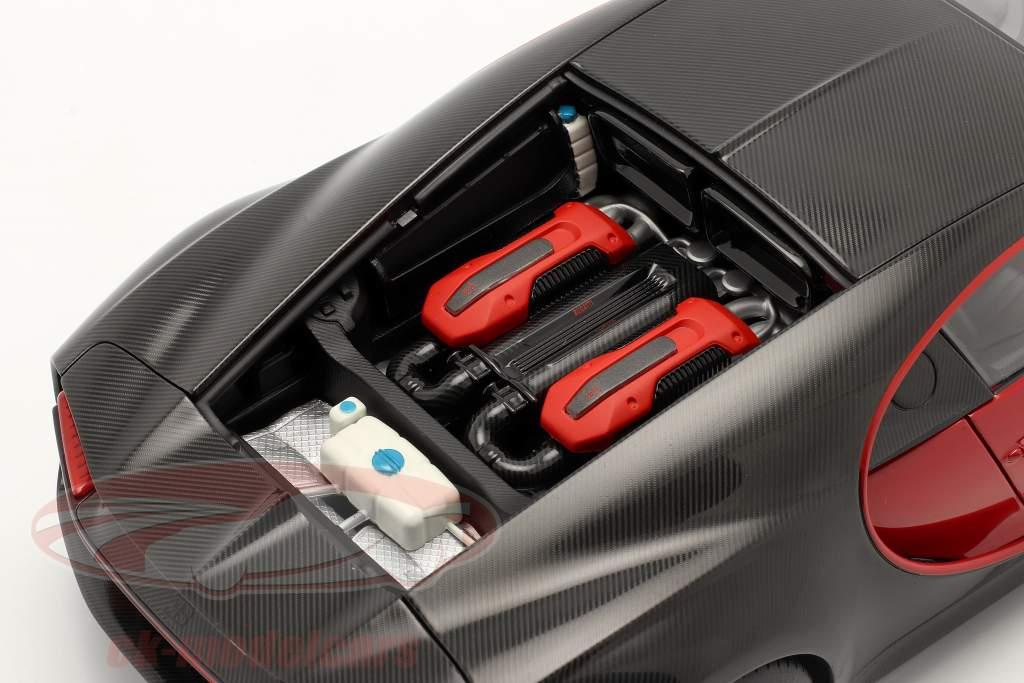 Bugatti Chiron Sport Byggeår 2019 italiensk Rød / kulstof 1:18 AUTOart