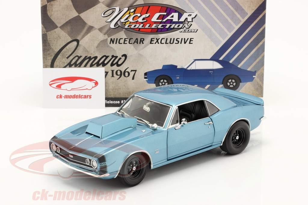 Chevrolet Camaro Drag Outlaws 1967 blau 1:18 GMP