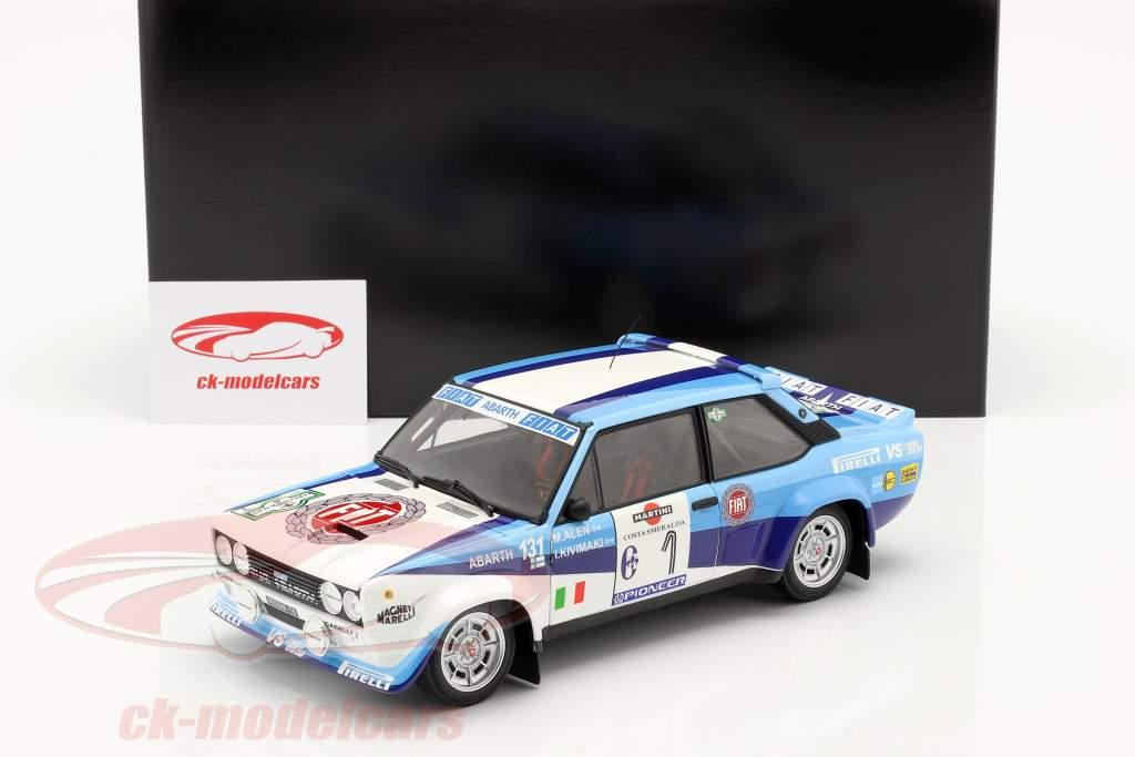 Fiat 131 Abarth #1 gagnant Rallye Costa Smeralda 1981 Alen, Kivimäki 1:18 Kyosho