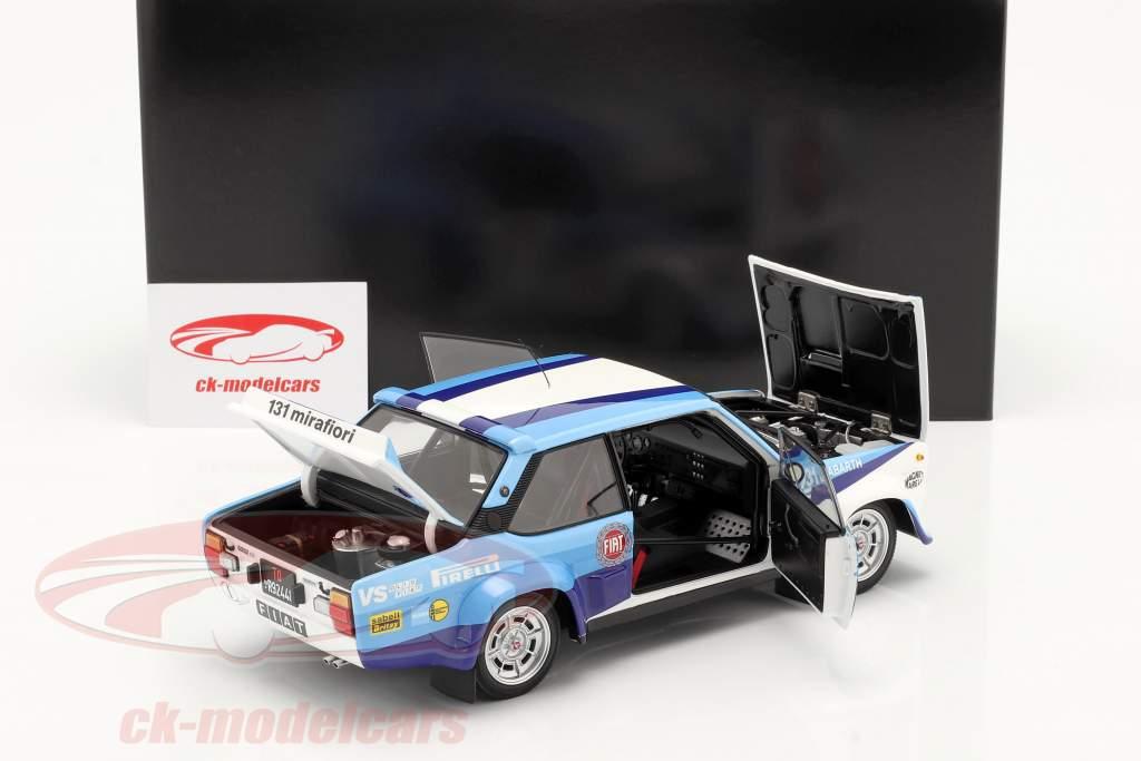 Fiat 131 Abarth #1 Winner Rallye Costa Smeralda 1981 Alen, Kivimäki 1:18 Kyosho