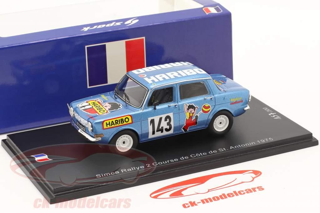 Simca Rally 2 #143 Hill klatre Course de Cote St. Antonin 1975 1:43 Spark