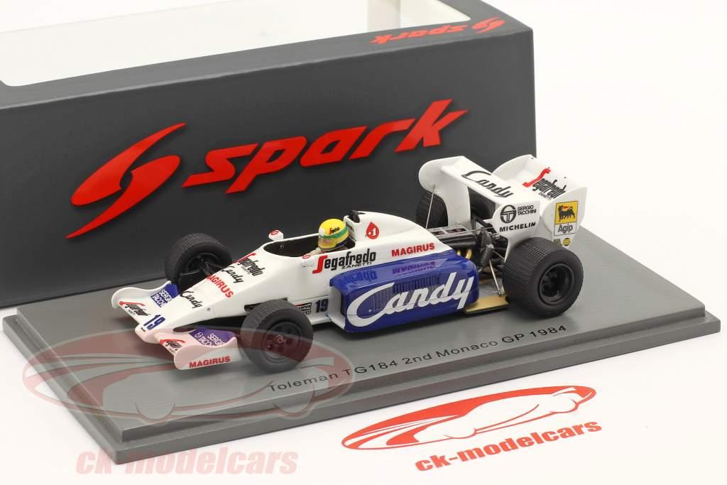 Ayrton Senna Toleman TG184 #19 2. Monaco GP formel 1 1984 1:43 Spark