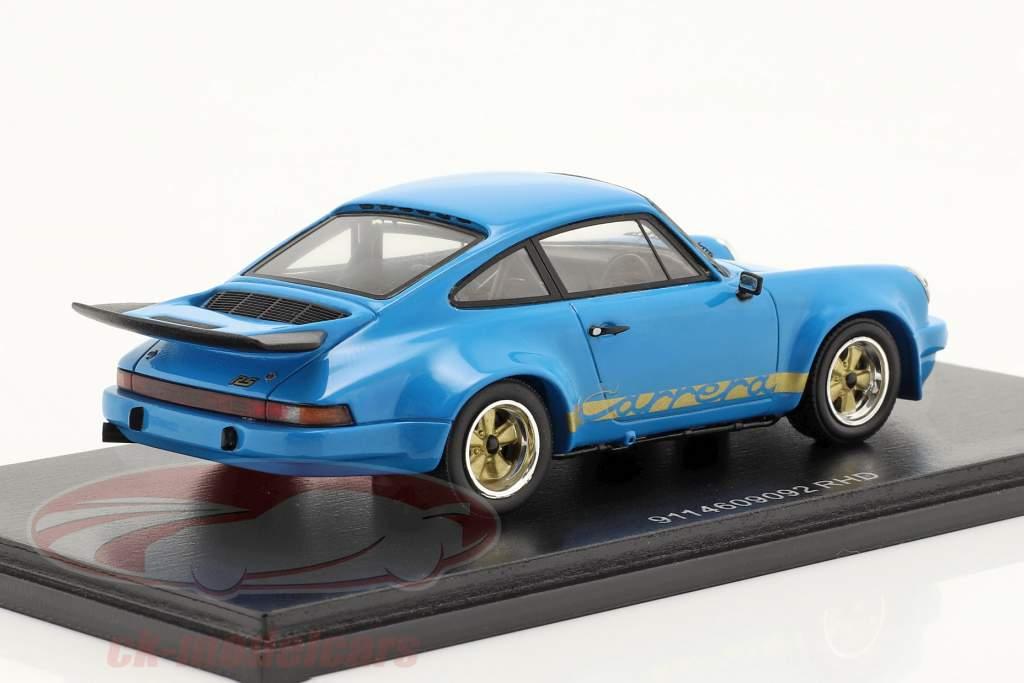 Porsche 911 RS 3.0 RHD Année de construction 1974 bleu 1:43 Spark
