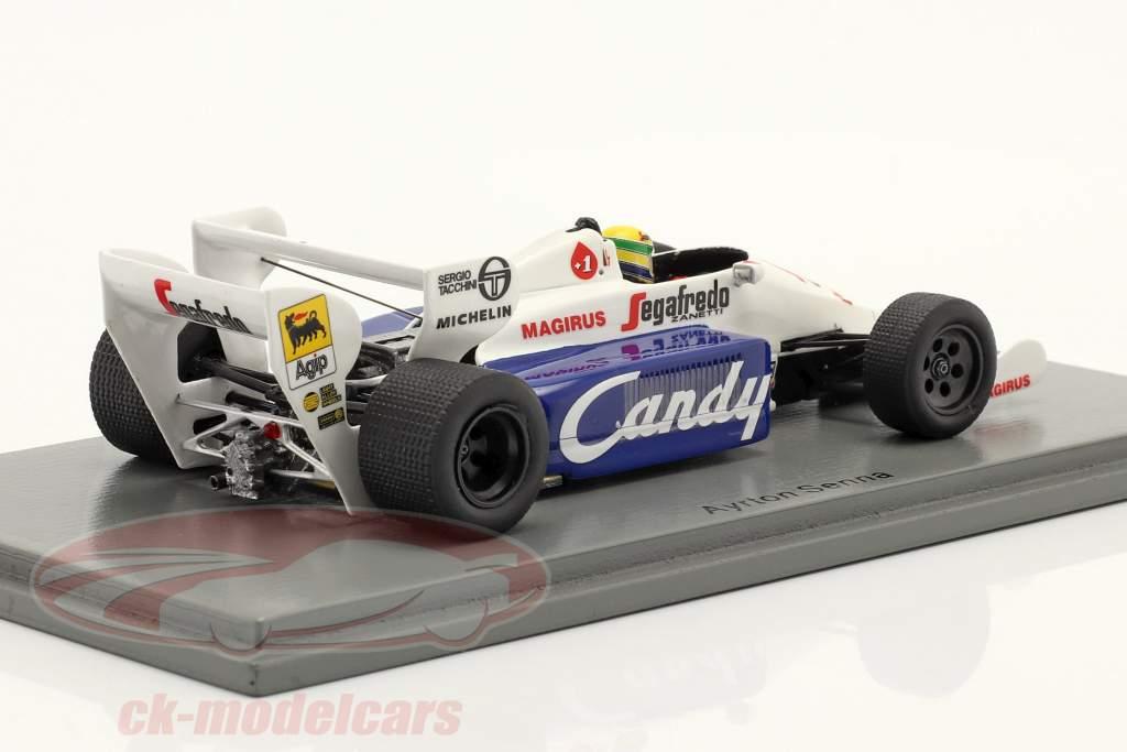 Ayrton Senna Toleman TG184 #19 2do Mónaco GP fórmula 1 1984 1:43 Spark